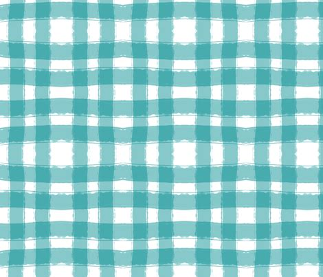 Watercolor Check Pattern | watercolor check in aqua fabric averielaneboutique