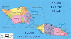Samoa World Map by Large Detailed Political And Administrative Map Of Samoa
