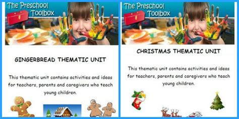 kindergarten christmas themed units the ultimate gingerbread theme for preschool and