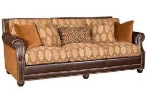 leather and cloth sofas hickory manor living room julianna leather fabric sofa