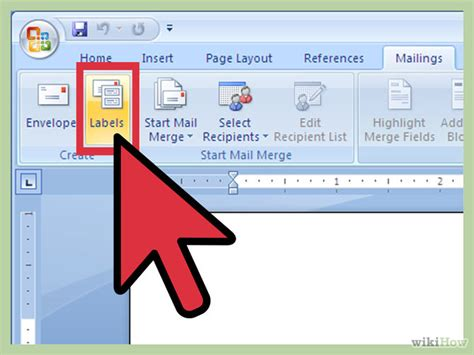 template for labels word 2007 how to create labels using microsoft word 2007 13 steps