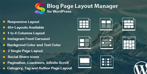 blog layout codecanyon blog page layout manager for wordpress by saragna codecanyon
