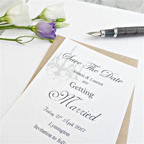 Handmade Save The Date Cards - handmade save the date card by edgeinspired