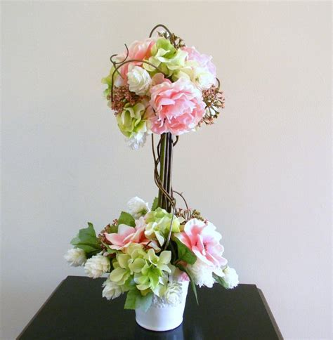 floral arrangements centerpieces topiary flower arrangement floral centerpiece wedding