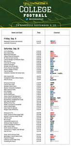 Ford Football Schedule Week 2 Comprehensive College Football Tv Guide