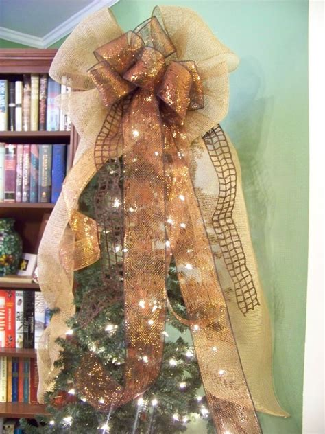 brown copper burlap mesh jute ribbon door wreath