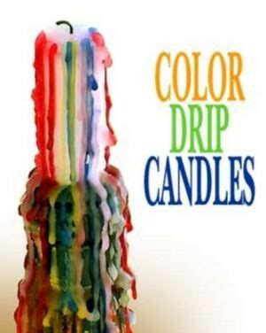 color drip candles taper colored candles ebay