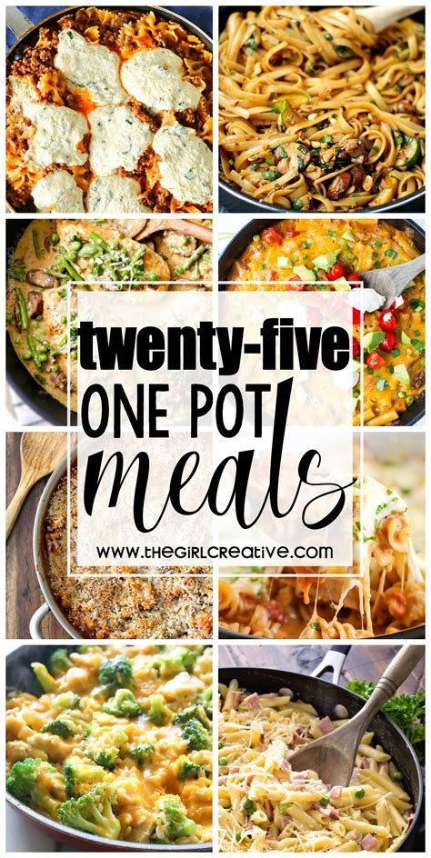 one pot meals for dinner 25 one pot meals the creative