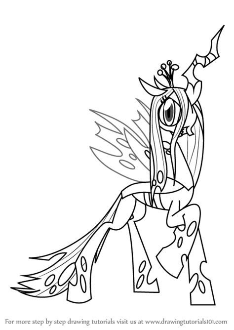 my little pony queen chrysalis coloring pages learn how to draw queen chrysalis from my little pony