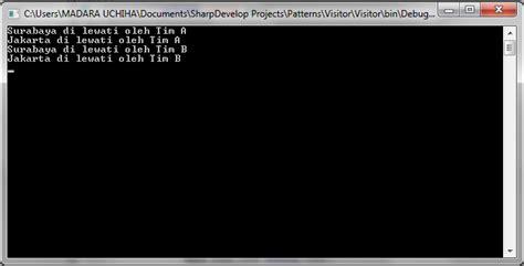 visitor pattern dynamic c pattern visitor di java c dan php pemrograman