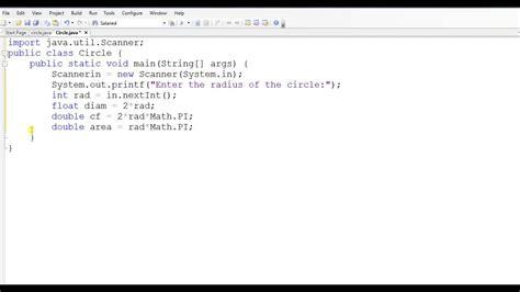 java printable area java program to find area of circle youtube