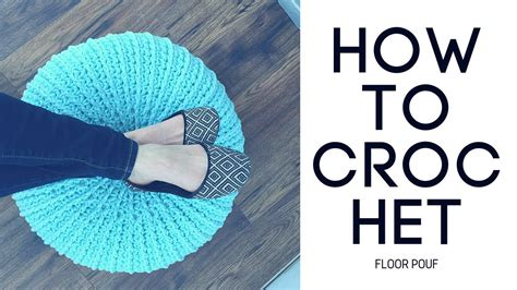 crochet how how to crochet a floor pouf