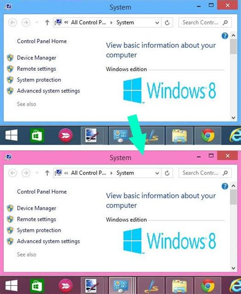 how to change border color change color of window borders taskbar in windows 8