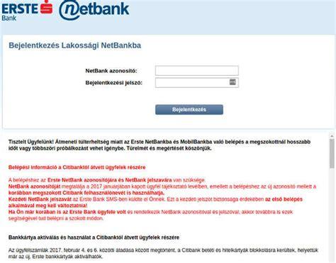 erste bank netban akadozik az erste bank internetes rendszere m 237 nuszos hu