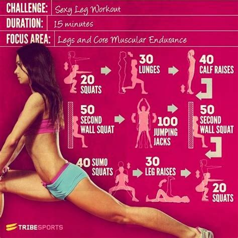 here s a legs challenge easy workouts that you can do to
