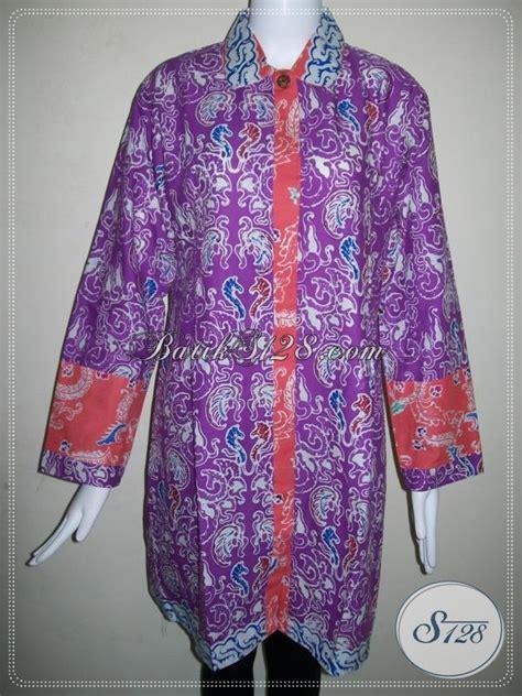 Baju Sekolah Warna Ungu baju batik lengan panjang untuk wanita pekerja bank batik warna ungu elegan bls626c xl toko