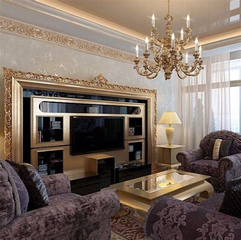 Living Room Design Classic by Luxury Classic Living Room With Vismara Design Tv Stand