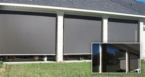 Roll Patio Screens by Marygrove Awnings Tx Roll Up Solar Screens Curtains