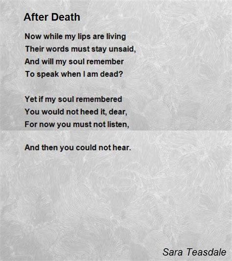 passing poem after poem by teasdale poem