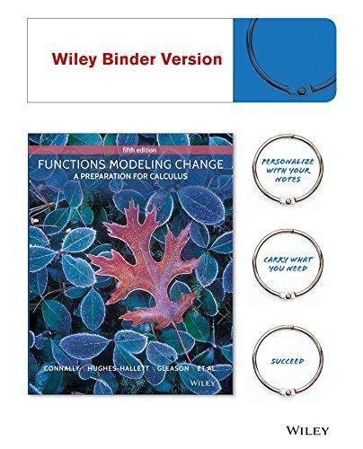 calculus 5th edition ebook isbn 9781118942581 functions modeling change a