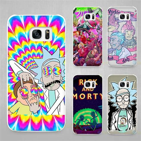Casing Samsung S7 Rick And Morty Custom rick and morty season white coque shell cover phone cases for samsung galaxy s4 s5 s6