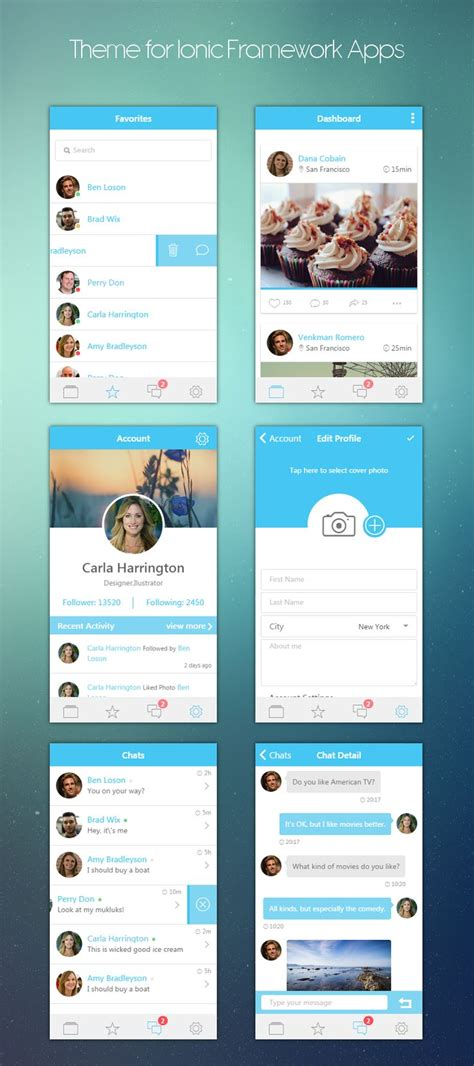 mobile ui themes ionheaven ionic themes apps ui ionic themes