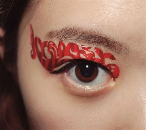 tattoo eyes red 1 pair of temporary tattoo makeup for eyes eyelids