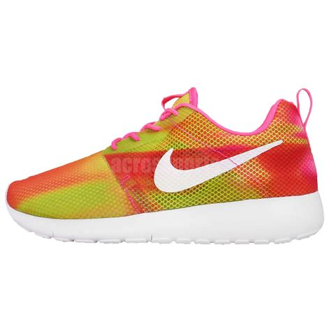 nike roshe one flight weight gs pink yellow youth