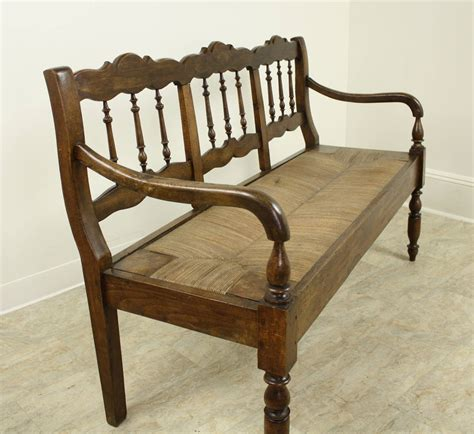 french bench seat antique french chestnut rush seat bench at 1stdibs