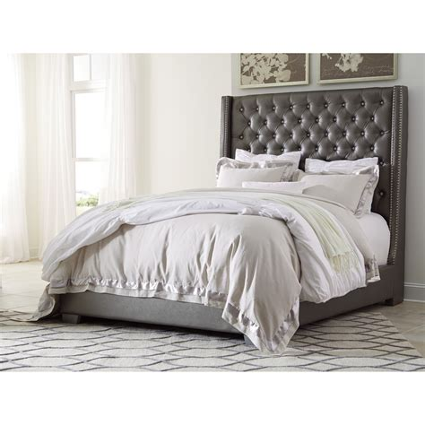 upholstered bed queen upholstered bed with tall headboard with faux
