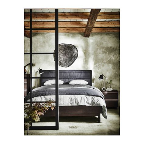 oppland bed frame king ikea oppland bed frame stained ash grey standard king ikea