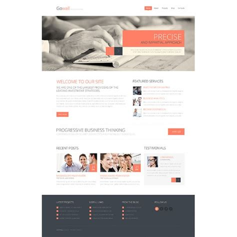 Consulting Company Bootstrap Website Template 44838 Discounted Templatemonster Html Website Consulting Website Template