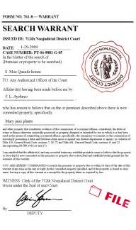 search warrant template search warrant template 41271 refseek