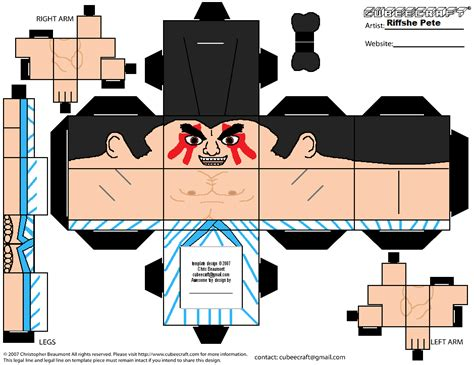Papercraft Honda - e honda cubeecraft by riffshepete on deviantart