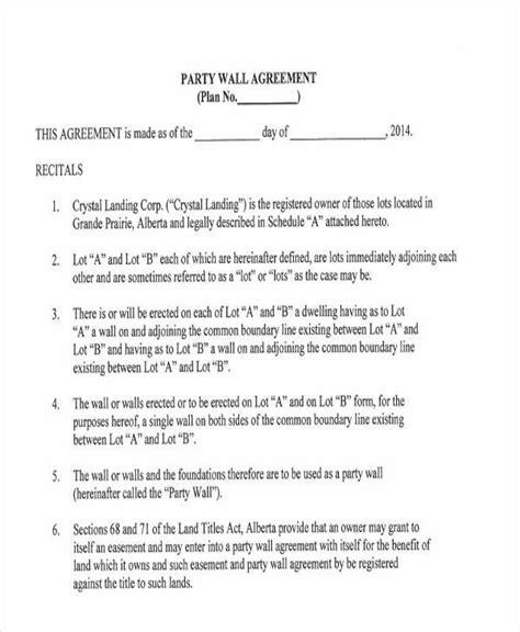 party wall agreement gtld world congress