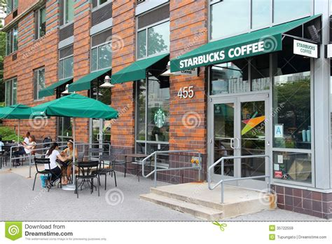 coffee shop in new york starbucks editorial stock image image of commerce