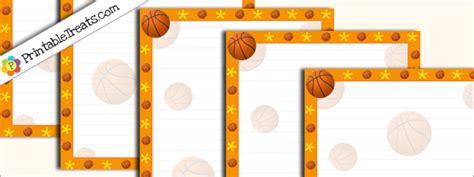 printable basketball stationary printable basketball stationery printable treats com