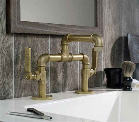 industrial looking kitchen faucets industrial style faucets by watermark to give your