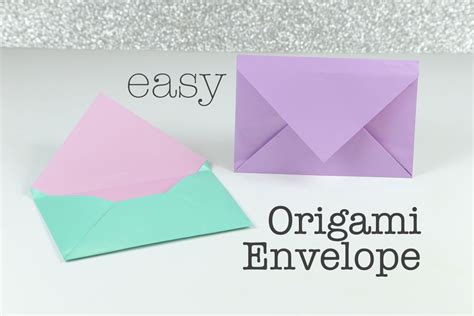How To Make A Paper Envolope - how to make an easy origami envelope