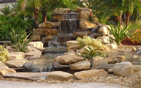 backyard waterfall waterfalls striking complement to backyard layout