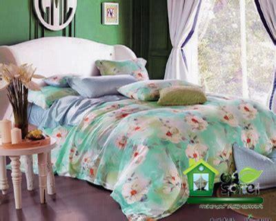 Sprei Bunga Abu Abu 180x200x25 sprei motif bunga sprei murah berkualitas houseofspreiku