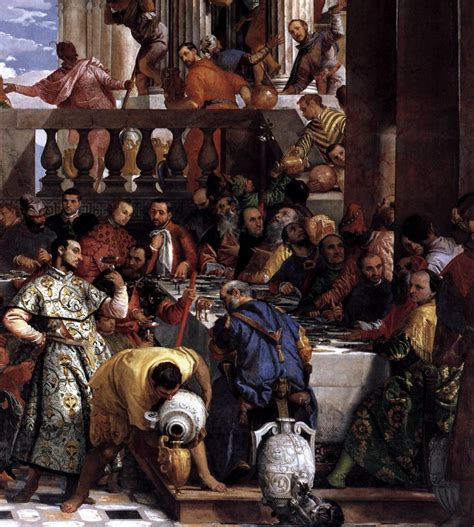 Wedding At Cana Moral by The Marriage At Cana Detail By Veronese Paolo
