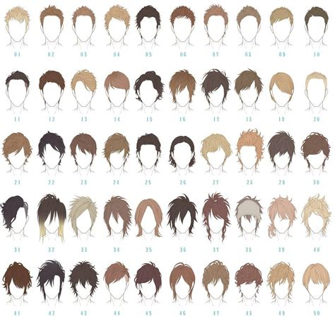 names of anime inspired hair styles what is the name of the haircut in number 12 and 13 of