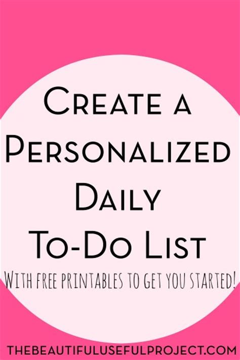 make your own printable to do list create a personalized daily to do list the beautiful