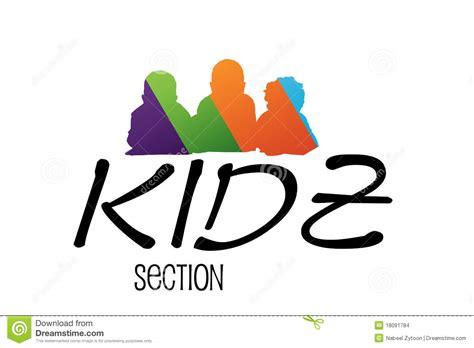 sectionalism for kids kids logo design stock images image 18091784