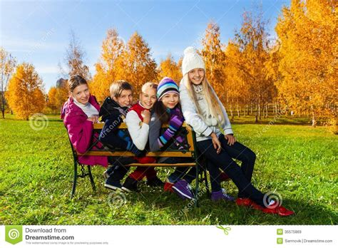 kid on bench school children on the bench stock image image 35575869