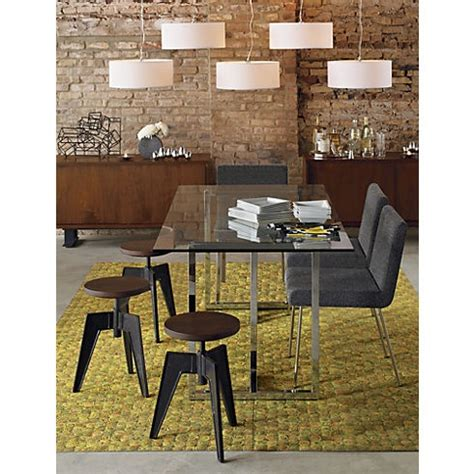Silverado Rectangular Dining Table Silverado Rectangular Dining Table Plugs Chairs And White Pendants