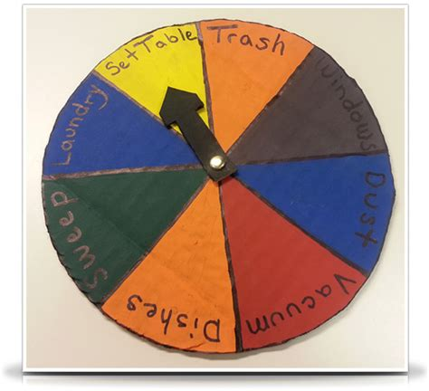 How To Make A Paper Wheel That Spins - great diy chore wheels and charts for a clean home the