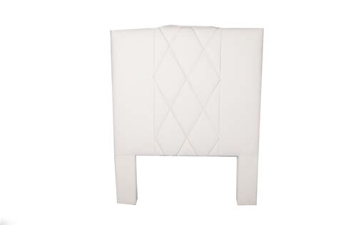 single white headboard leather headboard single white