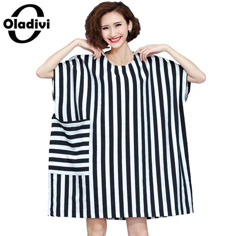 Striped Oversized Dress Size Mlxl 1 plus size clothing fashion striped dress